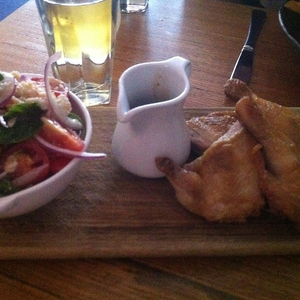 Roasted Spatchcock With Panzanella Salad @ Clarences Bar & Restaurant