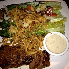 Seared Steak With Maytag Bleu Cheese Salad