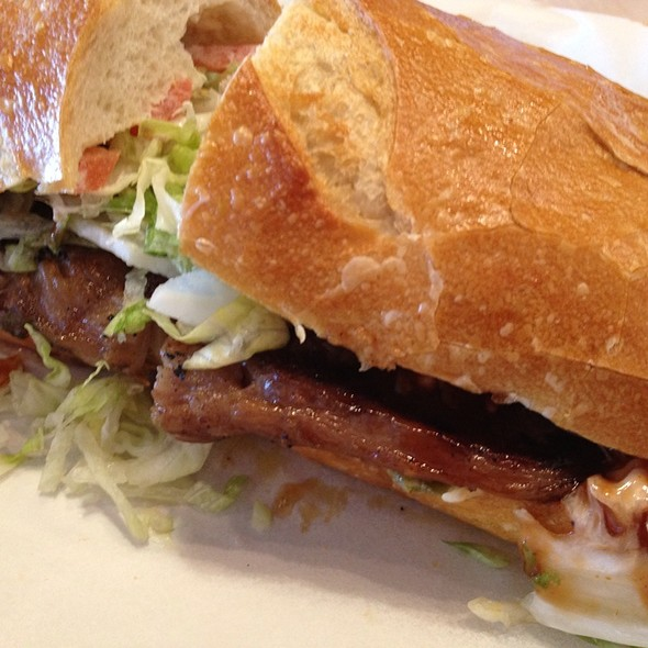 Ribeye Steak Sandwich @ Kinder's Custom Meats