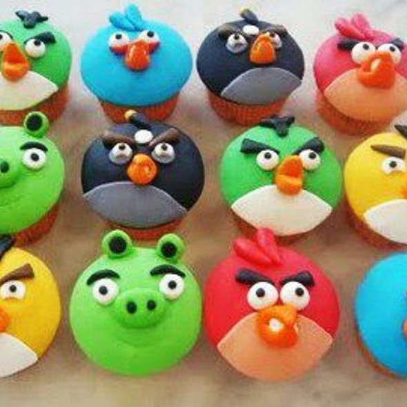 Angry Birds Cup Cakes @ Not Just Desserts