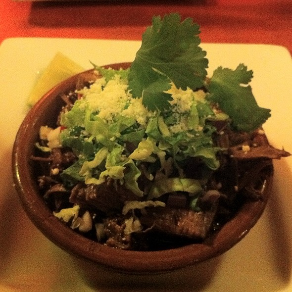 Wild Mushroom Pozole, Wheatberries, Poblano Broth, Paper-Thin Tostada, Queso Fresco @ Chilam Balam
