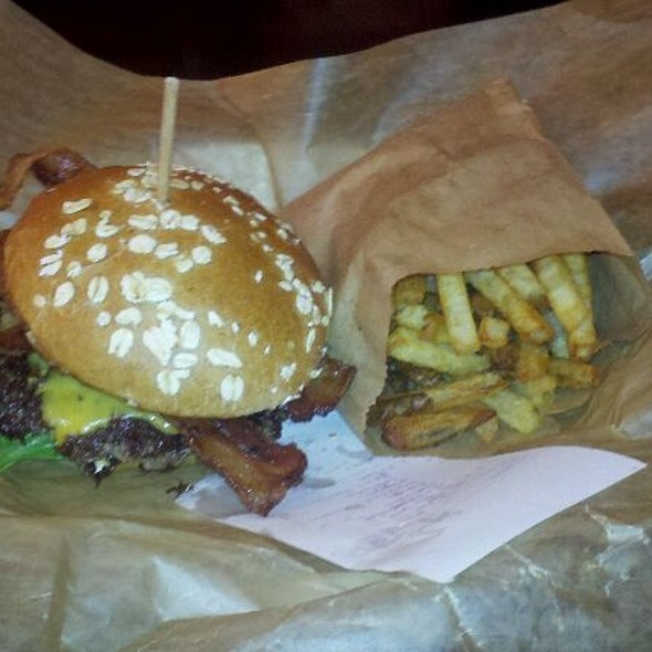 Epic Burger With Cheese And Bacon @ Epic Burger