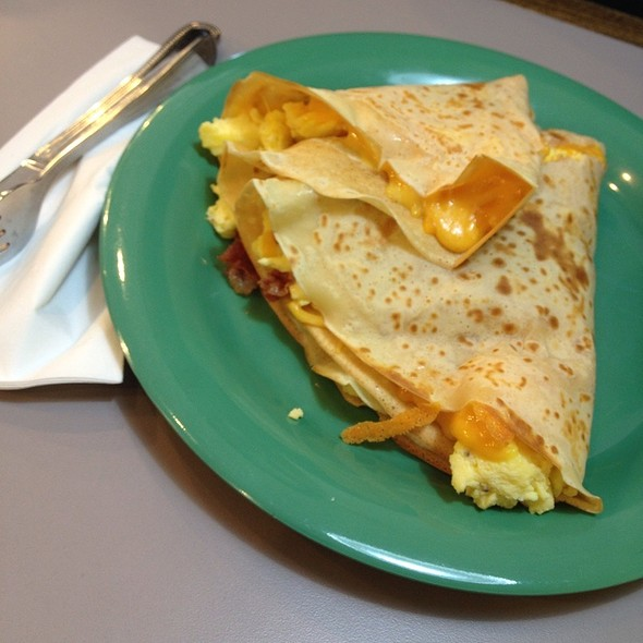Bacon, Egg, And Cheese Crepe @ JD's Crepe Company