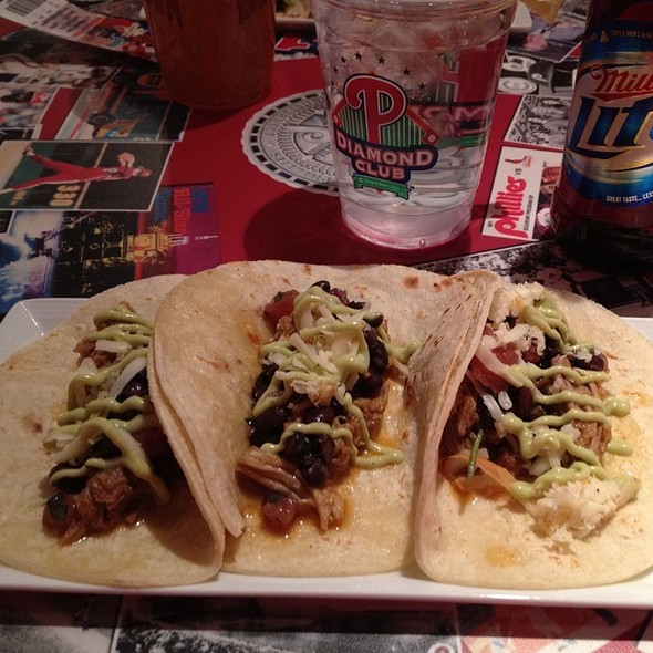 Pork Tacos @ Diamond Club Citizens Bank Park