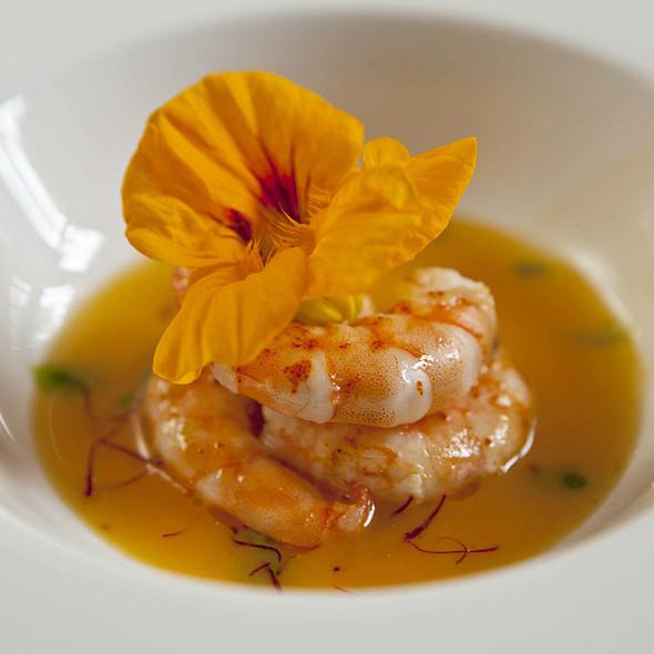 Mediterrenean Crab Bisque with Capuncina Flower & Caviar @ Cortijo El Carligto, Private Andalucian Hideaway