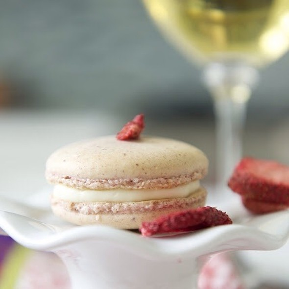 Real Strawberries And Cream Macarons