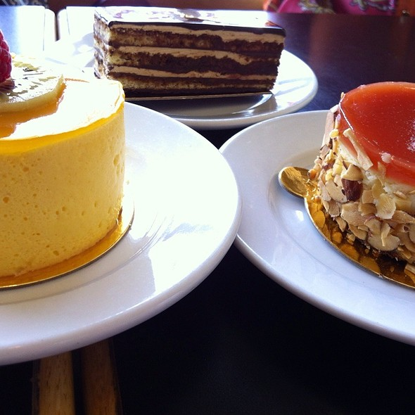 Mango Mirror, Opera Cake, Orange Cheesecake @ Masse's Pastries