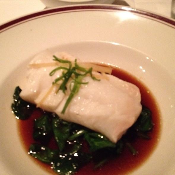 Steamed Sea Bass Hong Kong Style @ Chops Lobster Bar