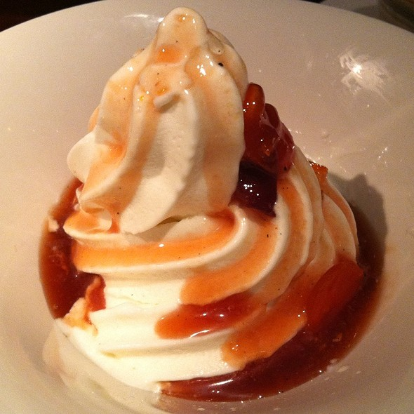 Vanilla Soft Serve With Blood Orange Kumquat Sauce @ Zero Zero