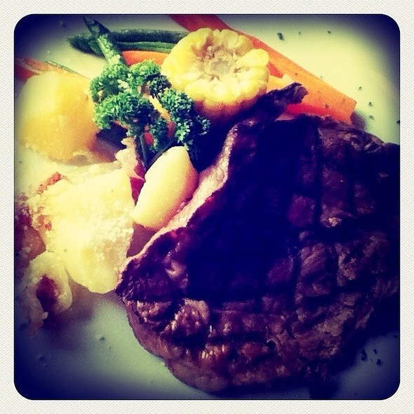 Grilled Certified Angus Beef Prime Ribeye Steak @ Melo's