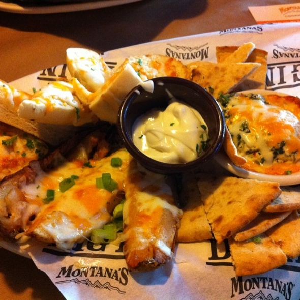 Family Appetizer Platter @ Montana's Cookhouse Saloon