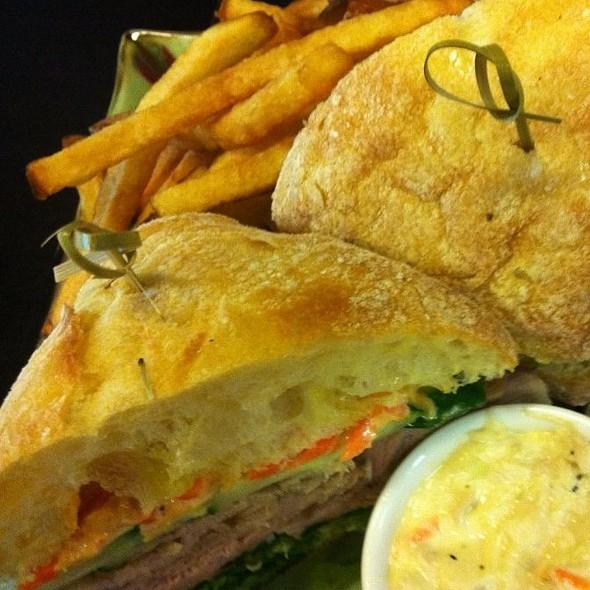 Bahn-mi Pork Sandwich with  Coleslaw & Fries  - Lightfoot Restaurant, Leesburg, VA