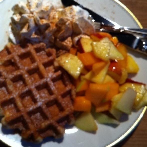Belgian Waffle @ Babu's Bakery & Coffeehouse