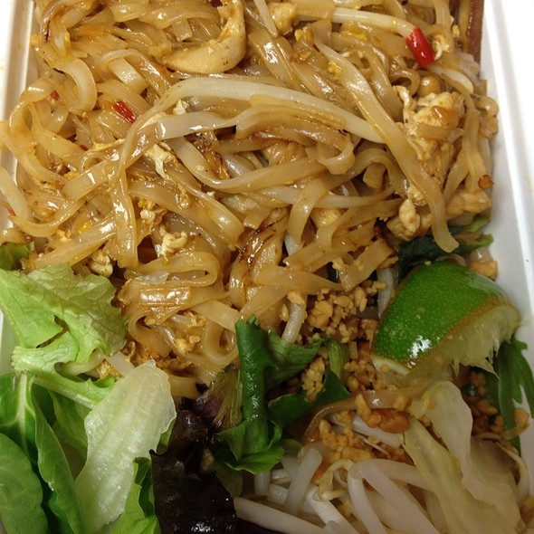 Pad Thai with Chicken - MoCA Asian Bistro - Queens, Forest Hills, NY
