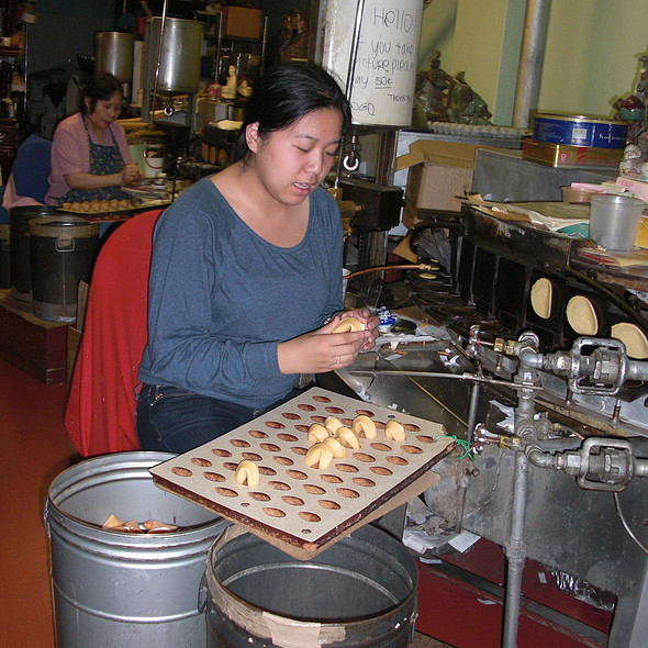 Fortune cookies (with customized fortunes) @ Golden Gate Fortune Cookie Factory