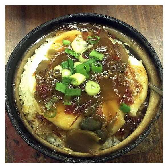 Preserved Vegetables And Fish Fillet Claypot Rice @ First Taste