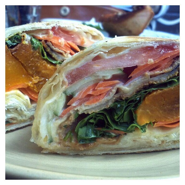 Roast Vegetable Wrap  @ Circa Espresso