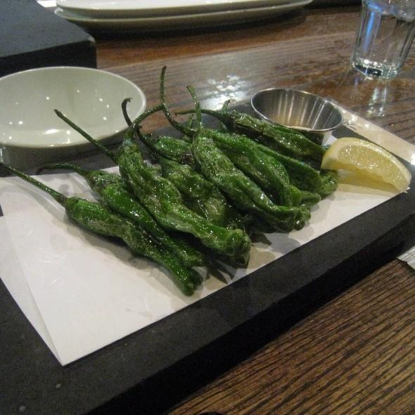 Flash fried shishito peppers with yuzu salt @ Ippudo