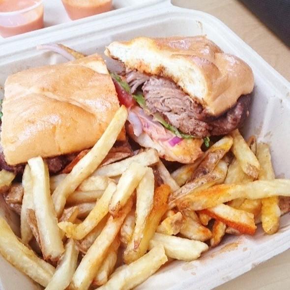 Jerk Pork Sandwich At Primo Patio Cafe