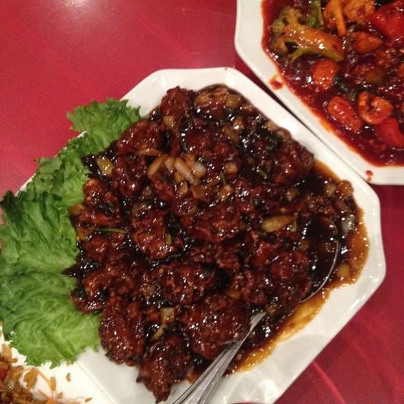 Vegetable Manchurian Pakoda Style @ Eddie's Wok n Roll