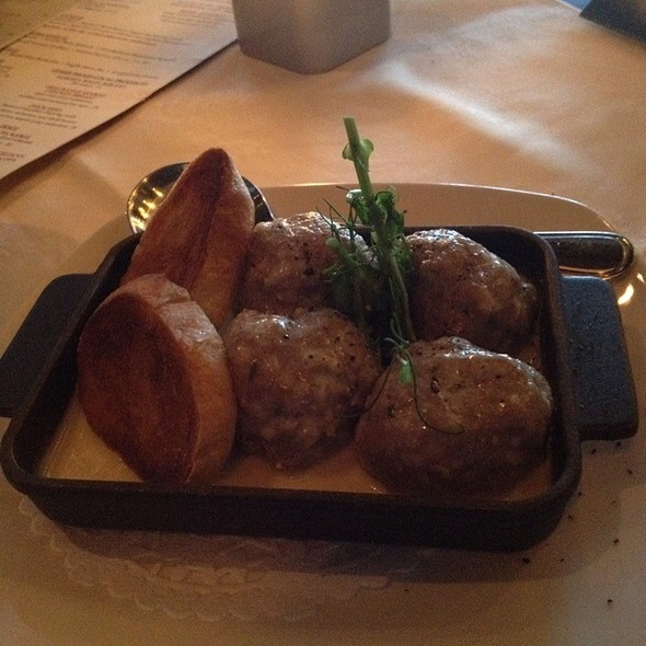 Baked Veal Meatballs W/ 4 Cheese Cream Sauce - Bistecca Italian Steakhouse & Wine Bar, Edmonton, AB