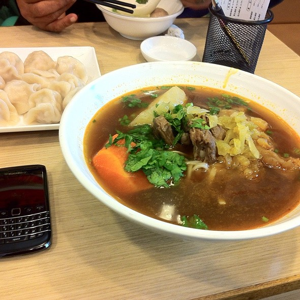 Beef noodle soup @  八方雲集鍋貼水餃專門店