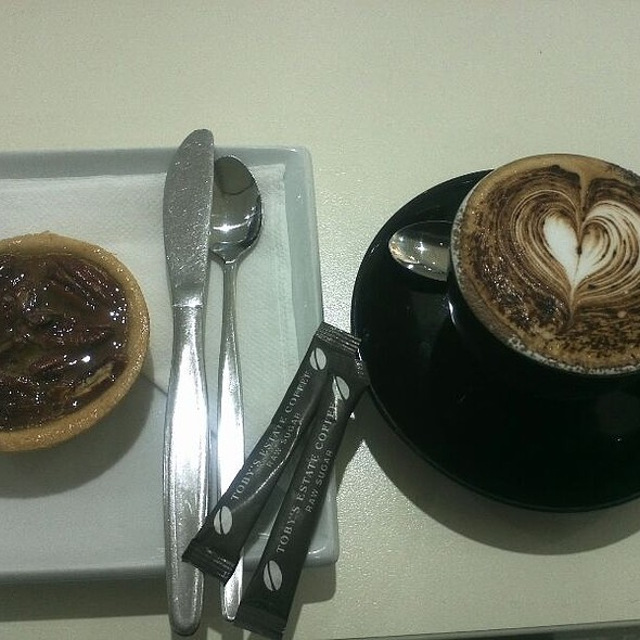 Cappuccino And Pecan Tart  @ Bean Bag