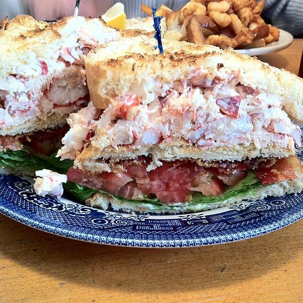 Lobster club sandwich @ Brass Compass Cafe