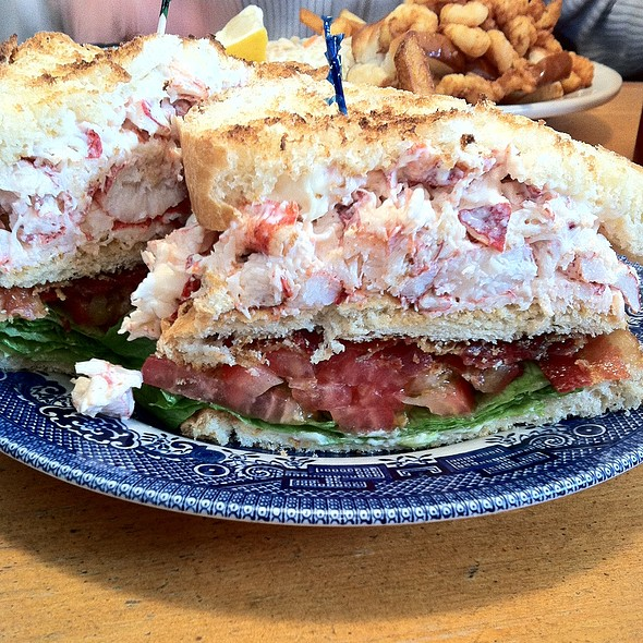 Lobster club sandwich @ Brass Compass Cafe