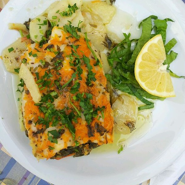 Halibut With Spinach @ Laona RESTAURANT