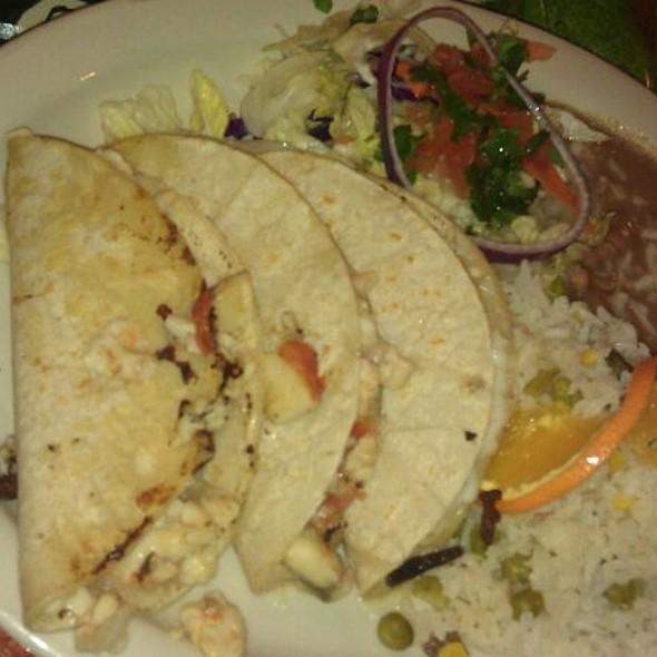 Fish Tacos, Rice, Beans @ Mariscos Playa Hermosa