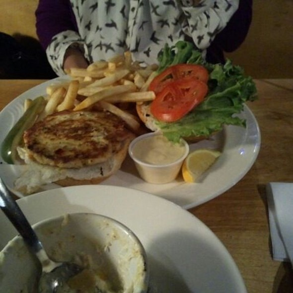 Salmon burger @ Northside Grill