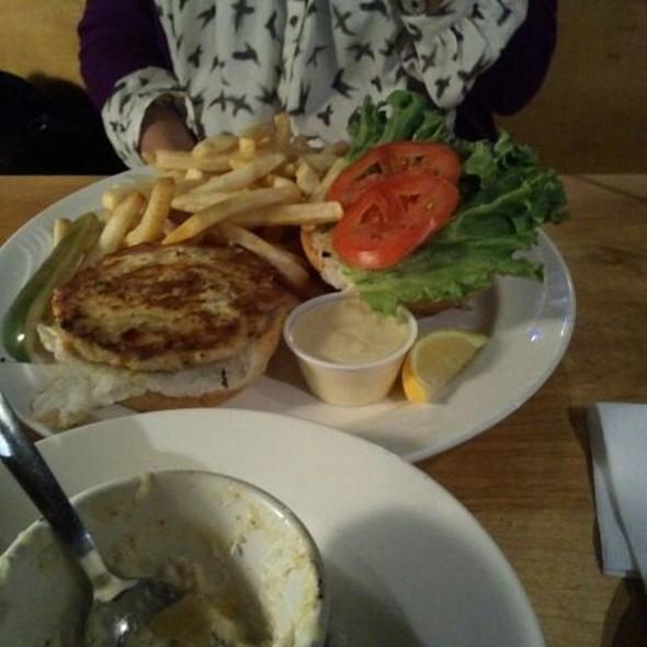 Salmon burger @ Northside Grill