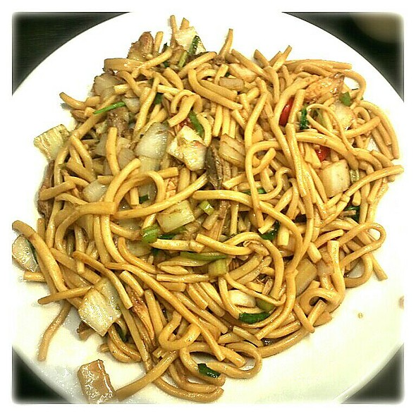 Fried Hand Made Noodles with Chicken @ Sea Bay Hand Made Noodle Restaurant