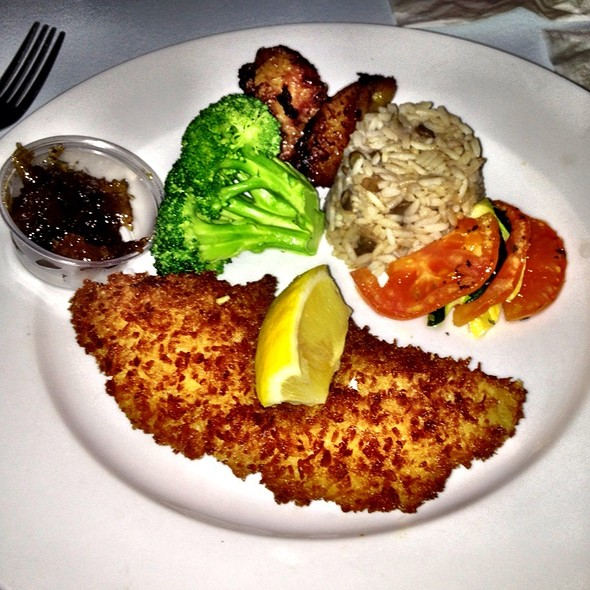 Coconut Crusted Mahi Mahi at Pusser's Marina Cay