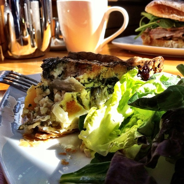 Quiche With Butternut Squash & Swiss Chard @ Boxwood