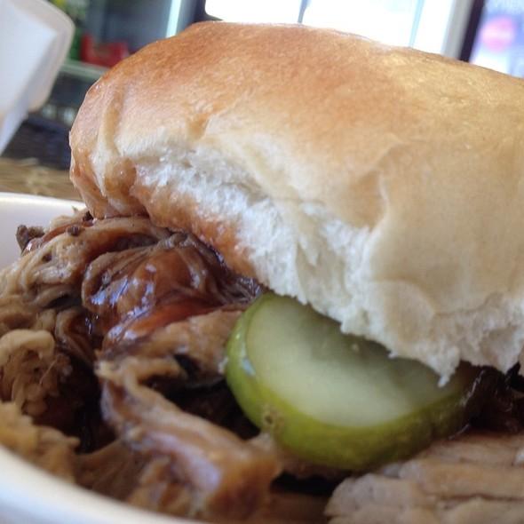 Pulled Pork Sandwich @ Snyder's Bbq & Meat Market