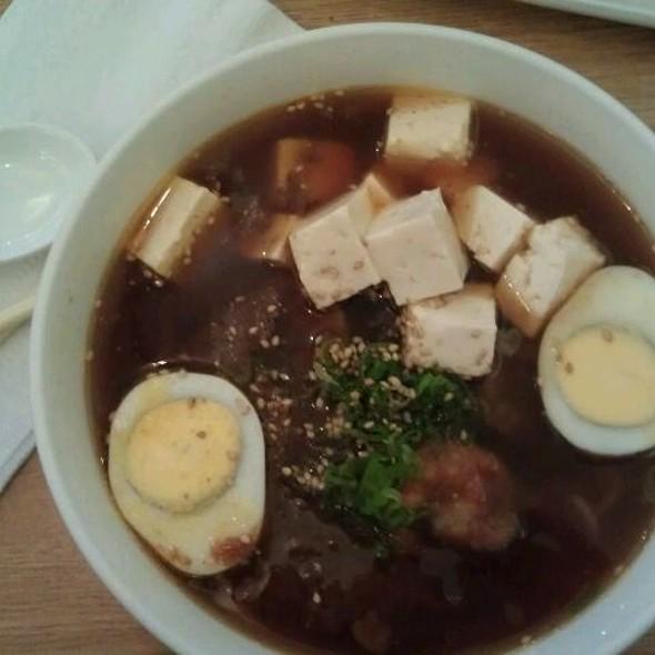 Shrimp Curry Ramen With Garlic And Tofu @ Mr Ramen