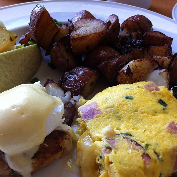 Crab Shrimp Eggs Benedict W Egg N Ham Omellete @ Provence Marinaside Seafood Restaurant Bar & Grill