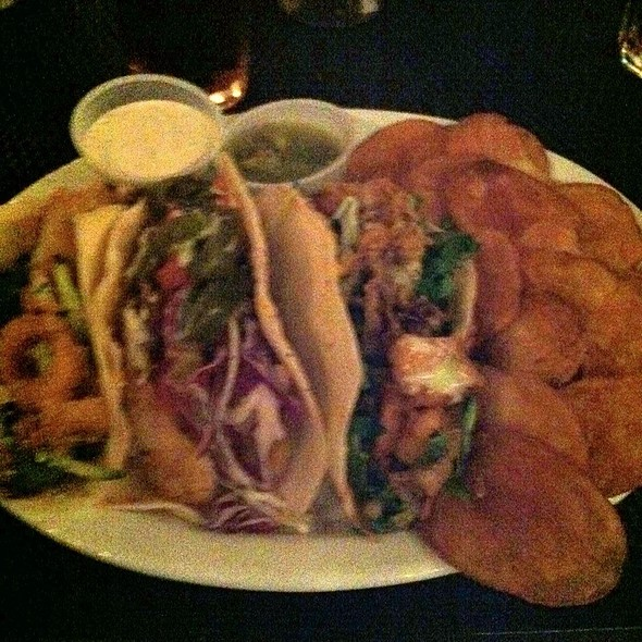 Combo Seafood Tacos @ Six Feet Under Pub & Fish House