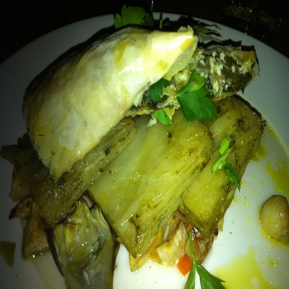 Artichokes In Phyllo @ Bottle Cap