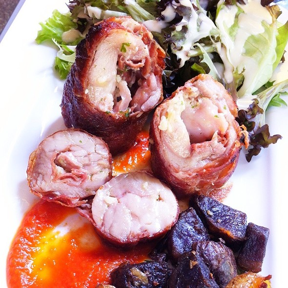 Parma Ham Wrapped Chicken Thigh @ Brussels Sprouts