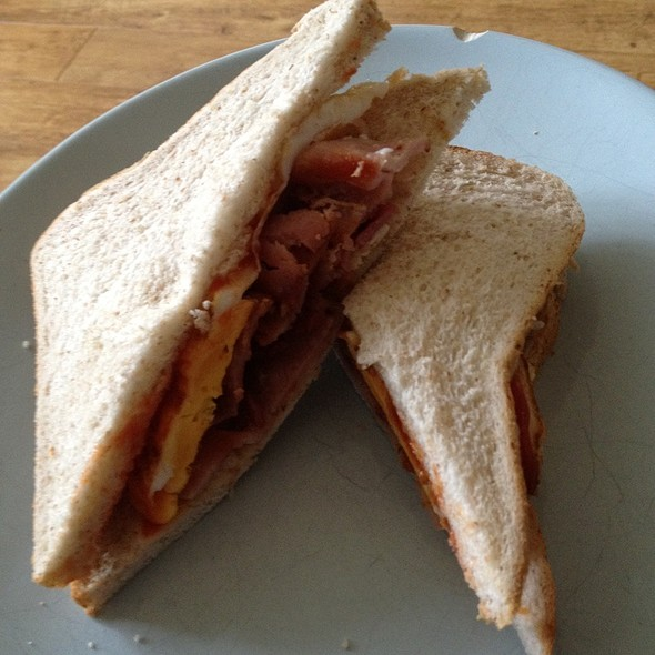 Egg And Bacon Sandwich @ Jimmy's Cafe