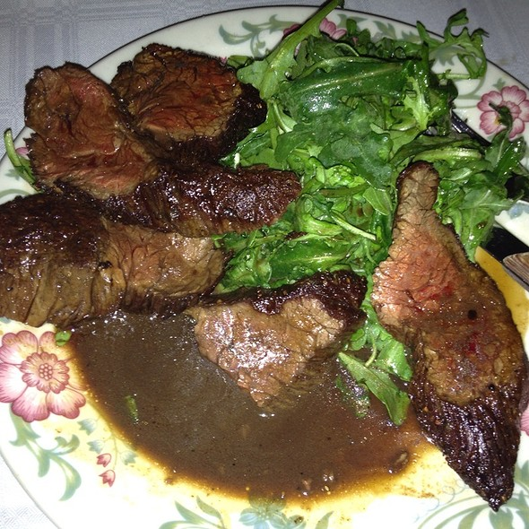Hangar Steak With Arugula @ Al Di La Trattoria