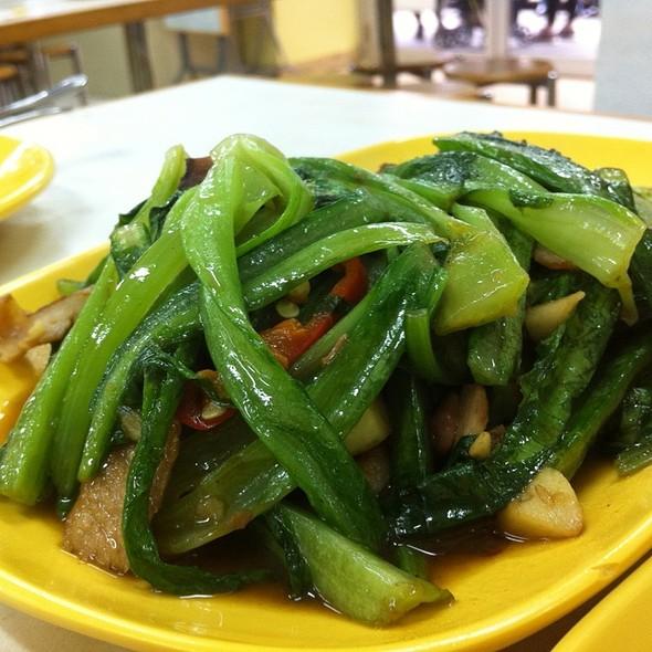 泰式油麥菜炒豬頸肉 @ 小曼谷泰国美食