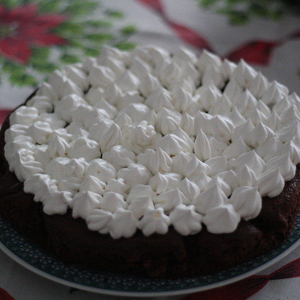 Torta Al Cioccolato Con Panna @ Home