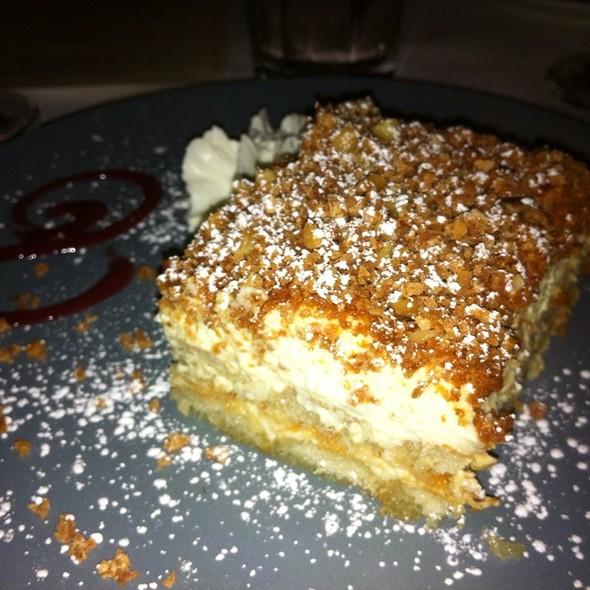 Toasted Almond Tiramisu @ restaurant jonina's