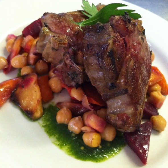 Lamb W/ Chick Peas And Mint @ Another Fork In the Road