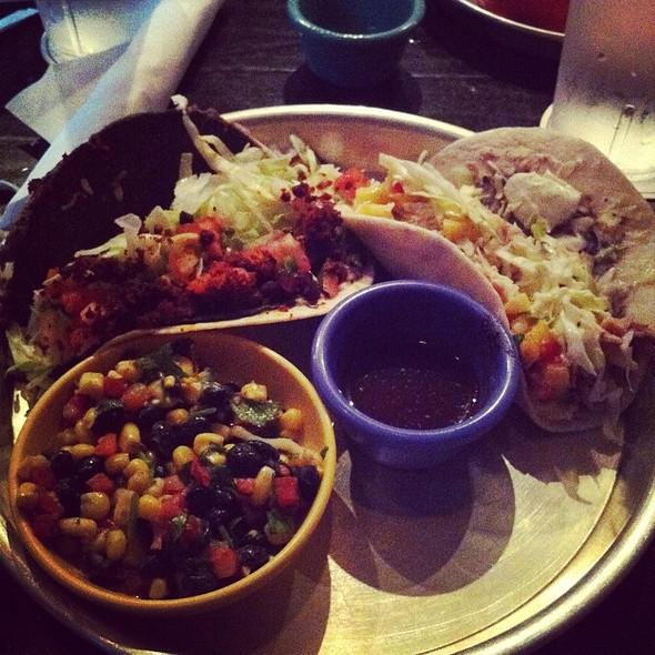 Tacos And Bean And Corn Salad @ Taco Mamacita