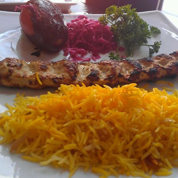 Ground Chicken Kabob With Almond And Orange Rice - Persepolis, New York, NY